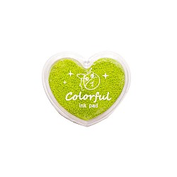Colorful Heart shaped Ink Pad - Green