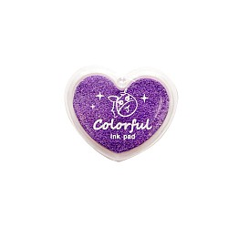Colorful Heart shaped Ink Pad - Purple