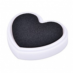 Colorful Heart shaped Ink Pad - Black