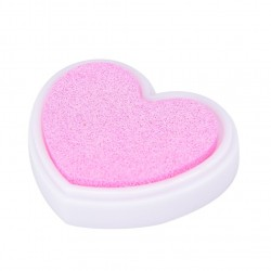 Colorful Heart shaped Ink Pad - Baby Pink