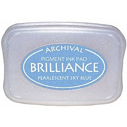 Brilliance Archival Pigment InkPad - Pearlescent Sky Blue
