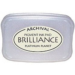 Brilliance Archival Pigment InkPad - Platinum Planet