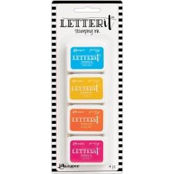 Ranger Letter It Stamping Ink Set  # 3 (Set of 4)