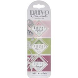 Nuvo Diamond Hybrid Ink Pads 3/Pkg - Rose Garden