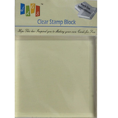Clear Acrylic Block (90mm by 90 mm)