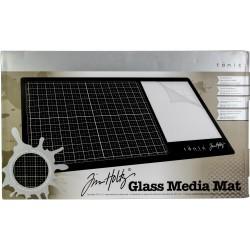 """Tonic Studios Tim Holtz Glass Media Mat 23.75""""X14.25"""""""