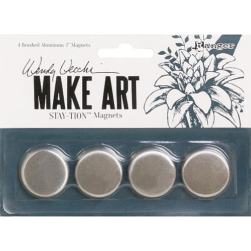 "Wendy Vecchi MAKE ART Stay-tion 1"" Magnets 4/Pkg"