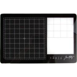 "Tim Holtz Travel Glass Media Mat 10.25""X15.5"""