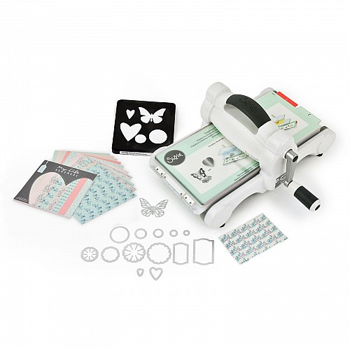 Sizzix Big Shot Starter Kit (White & Gray) with My Life Handmade Cardstock & Fabric